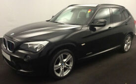 Black BMW X1 2012 2.0TD auto xDrive20d M Sport FROM £41 PER WEEK!
