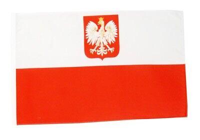 Polen mit Adler Banner polnische Fahnen Flaggen 30x45cm