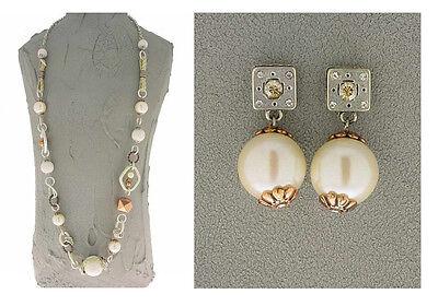 Authentic Italian Made Designer Fashion Costume Jewelry Set: Necklace & Earrings Italian Set Earrings
