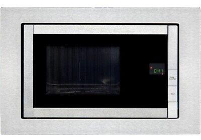 LUXUS 800W Einbau Mikrowelle 20 Liter Garraum Timer Grill Exquisit EMW 21 G