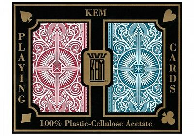 NEW KEM Arrow Red and Blue Poker Size Jumbo Index Playing Cards NEW