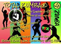 New TOTAL ZUMBA® dance fitness class in WORTHING! Every SUNDAY 4:00pm!