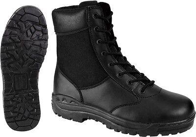 Black Forced Entry Security Law Enforcement (Law Enforcement Leather Boot)