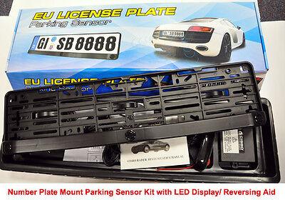 Fantastic CISBO Number Plate Frame Holder Mount Parking Sensor 3