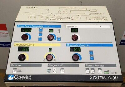 Conmed System 7550 Electrosurgical Unit With Argon Beam Coagulator