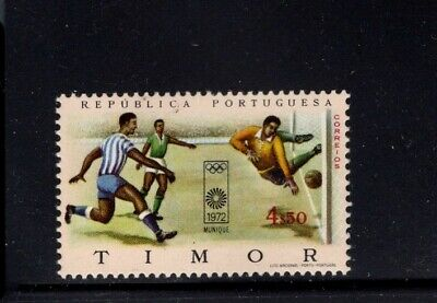 Timor 1972 Olympic Games Soccer Goal being kicked by Goalie MNH Sc 343