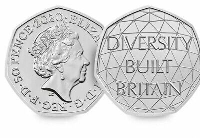 Just Released Diversity 50p 2020 Brilliantly Uncirculated