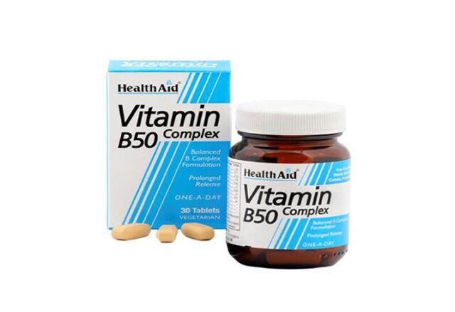 HEALTH AID VITAMIN B50 COMPLEX - 30 TABLETS