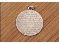Trench Art Victorian Silver Engraved Coin