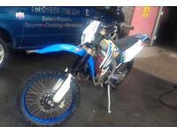 Tm 125cc registered 2011 bike actually 144cc head kit ** FULL ROAD LEGAL **