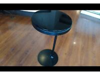 Black glass side table x2