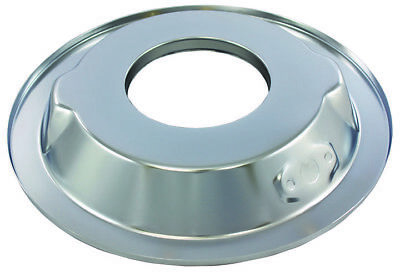 """Chrome 14"""" Round Steel Air Cleaner Base Recessed / Dropped 4 Brl 5-1/8"""" Openings"""