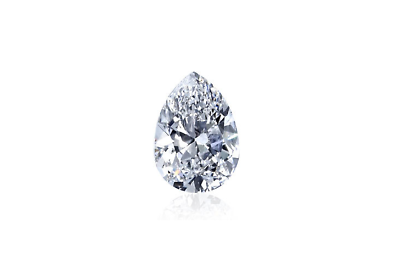 Real Pear Cut Natural Loose Diamond 0.73 CT D Color VS2 Clarity GIA Certified