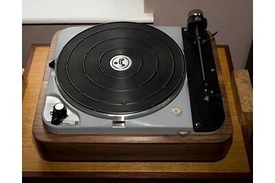Plinth for turntable Thorens TD 124, TD 121 walnut veneer, used for sale  Shipping to United States