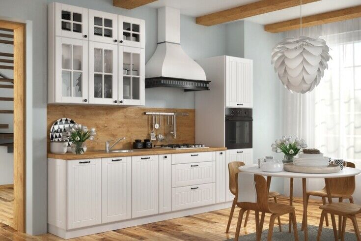 Küchenschrank Hängeschrank Unterschrank Lora Weiß 72 Modelle zur Wahl Schränke