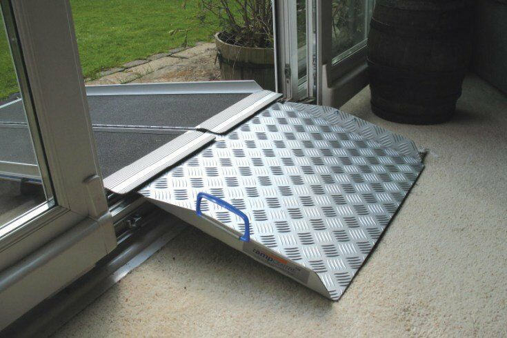 Threshold Ramp Designed To Overcome PVC Patio Door Thresholds 2 Ramps