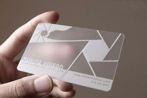 Frosted PVC business card printing as low as $0.13/ea