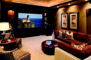 Home Theatre Room in your Basement