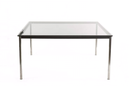 2 x Modern 1500mm Square Glass Dining Table