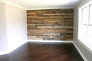DIY Accent pallet wood wall reclaimed barnboard
