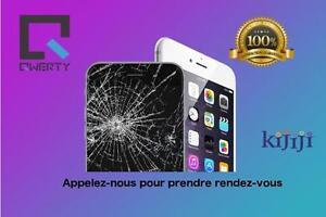 Réparation  iPhone - Bas prix, rapide et 100% garanti -- ecran brise--appelez au 514-713-7264
