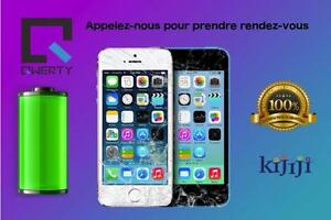 Réparation iPhone -iPad   -remplacement batterie d'iPhone    Laval 514-713-7264 100% Garantie