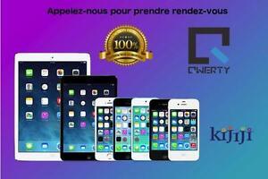 Réparation de iPhone iPad  QWERTY FIX- Bas prix, rapide et 100% garanti 3 mois iPhone iPad