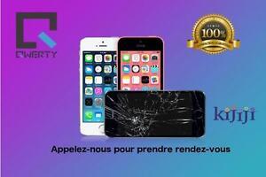 iPhone 4/4s/5/5s/5c/6/6+/6s reparation ecran vitre brise appelez 514-713-7264 Laval