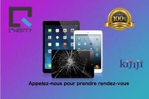Reparation vitre iPad air 75$ Service rapide, 100% Garantie,Bas prix  QWERTY Fix LAVAL