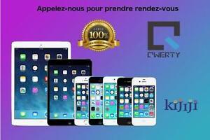 Réparation de iPhone  QWERTY FIX- Bas prix, rapide et 100% garanti 3 mois iPhone iPad