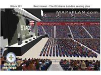 2 x John Legend Block 101 Seated Tickets. O2 Arena London
