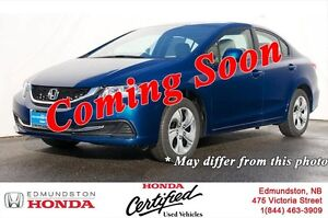 2013 Honda Civic Sedan LX Heated Seats! Bluetooth! Power Options