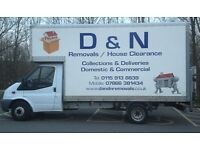 ***SHORT NOTICE HOUSE REMOVALS ** MAN AND VAN HIRE ** COLLECTION OR DELIVERY***