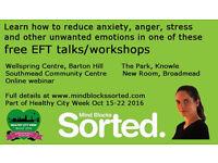 Free EFT talks/workshops as part of Healthy City Week, Oct 15-22