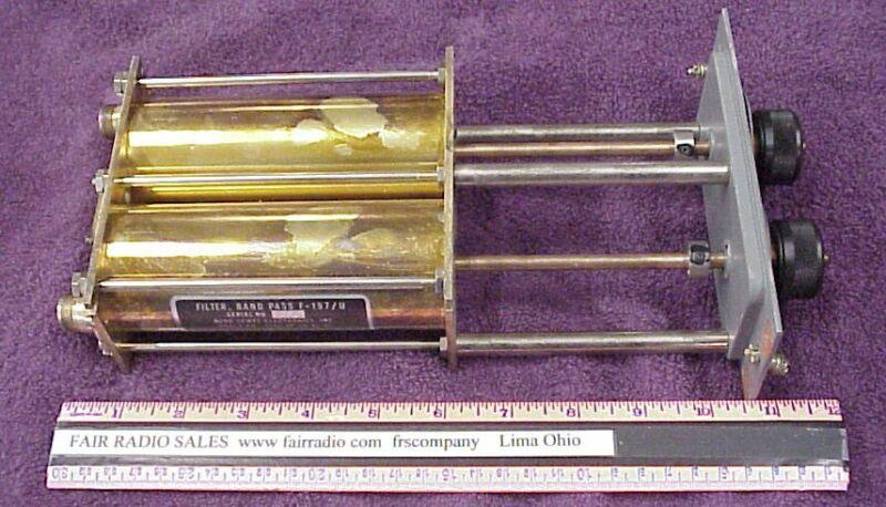 F196 VHF DUAL CAVITY FILTER 184-205Mhz RADIO TUNER TRANSMITTER MILITARY