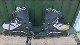 Salomon in line roller skates blades Uk size 6