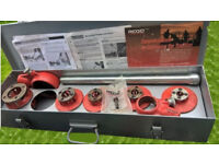 rigid manual hand pipe threader set threading kit free post