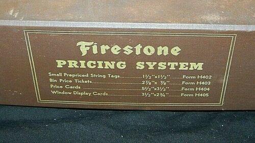 VINTAGE FIRESTONE TIRE POINT OF SALE~SERVICE STATION~LABEL PRICING SYSTEM