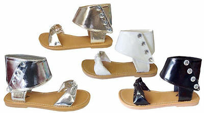 WHOLESALE LOT 36 Pairs Girls' Gladiator Sandals Ankle Strap Clearance**(8058K)