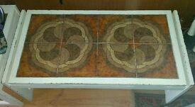 G plan style coffee table tiled top mid century vintage Danish look side table
