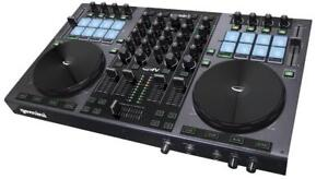 Gemini G4V 4 Channel Midi DJ Controller with Soundcard, supported with Virtual DJ LE.
