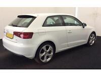 White Audi A3 SALOON 1.6 1.8 2.0 TDI Diesel Sport FROM £49 PER WEEK