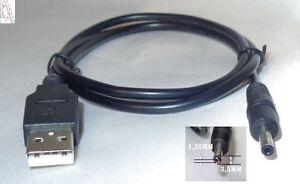 60cm Stromkabel USB auf DC Hohlstecker Stecker 3.5x1.35mm 5V Stromkabel Adapter