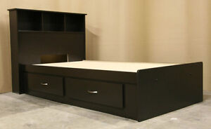 Twin Single Espresso Captains Bed