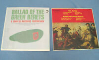 Old LP Records - Green Berets / Service Marches /US Fighting Men City of Montréal Greater Montréal Preview