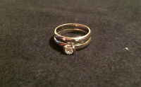 Toni Cavelti Birks engagement ring and Selberan Jewellers band