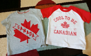 18-24 month boys Canada Day shirts