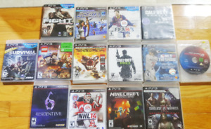 Playstation 3 (PS3) + 14 games + controllers - $350!