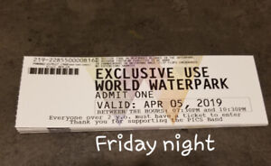 WEM Waterpark Tickets for Friday, April 5, 2019