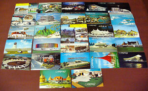 LOT DE 27 CARTES POSTALES DE L'EXPO 67!!!